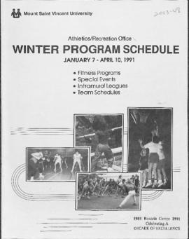 Athletics and Recreation Schedule- 1991