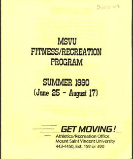 Athletics and Recreation Schedule- 1990